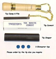 UNIVERSAL CUE TIP TOOL KIT. EVERYTHING NEEDED FOR TIPPING YOUR CUE. FREE UK P&P
