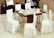 Elastic Stretch Slip Fit Dining Chair Covers Solid Slipcover Cotton