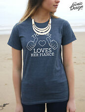 This Girl Loves Her Fiance T-shirt Top Funny Tumblr Fashion Gift Fiancé Wifey