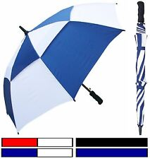 """Lot of 12 New Rainstoppers 48"""" Double-Canopy Golf Fbrglss Umbrella-Free Shipping"""