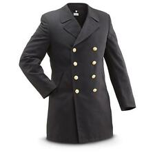 1990s German Navy Wool Army Trenchcoat Greatcoat trench coat military overcoat