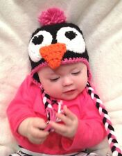 CROCHET GIRL PENGUIN BABY HAT infant toddler child adult beanie cap photo prop