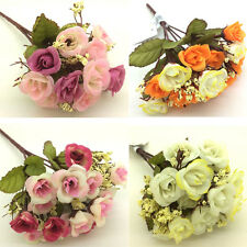 1 Bouquet Nice Party Home Wedding Bridal Artificial Silk Flowers Decoration