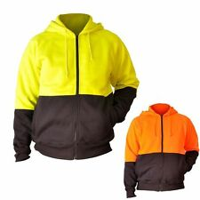 SW24 Men's High Visibility Two Tone Fleecy Hoodie New Work Wear Clothes