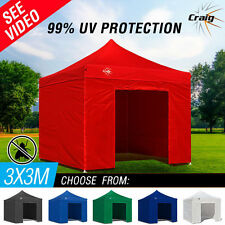 NEW Craig 3x3 Folding Outdoor Gazebo Marquee Tent Canopy Pop Up Party