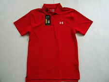 Under Armour HG Golf Performance man red  polo shirt sz S Brand  New