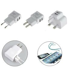 2A Dual USB Port Wall Adapter Charger For iPhone iPod Touch Samsung Galaxy Tabs