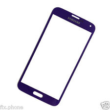 Replacement Front Outer Glass Screen Lens Samsung Galaxy S5 9600 9605 Black Blue