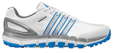 Adidas Pure 360 Gripmore Sport Golf Shoes Q46740 White/Silver/Blue 2015 Mens New