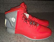 NEW Mens 13 ADIDAS Derrick Rose 4 Pop Neon Red Grey Basketball Shoes Sneakers