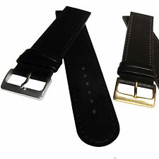 XXL Extra Extra Long LEATHER WATCH STRAP, Black or Brown, 22mm or 24mm, UK stock