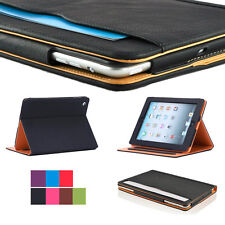 Wallet Soft Leather Smart Sleep Wake Stand Magnetic Case For iPad 2 3 4 Air Mini