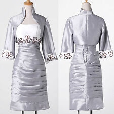 Free Jacket Mother Of The Bride Dresses Wedding Formal Guest Prom Gown /Outfits+
