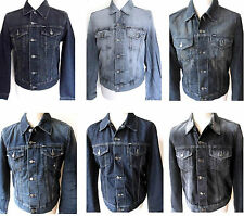 GAS Jacket Men's Denim Slim Fit Jackets Various Colours Sizes: S - XXL