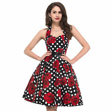 PLUS SIZE Swing 50's VINTAGE Housewife Rockabilly Pinup Party Prom SUMMER Dress