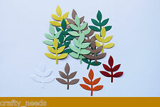 20PC - LEAVES  Frond Leaf  Die Cuts Embellishments