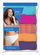 5  Just My Size Cotton TAGLESS Hi-Cut Panties Assorted Colors 9 - 13/Best Seller