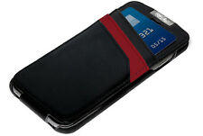 Mossimo Black Red Leather Wallet Cover Case/Credit Card Holder for iPhone 6 6S