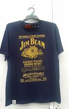 Jim Beam Authentic T-shirt 'World's Famous Bourbon' Navy or Charcoal