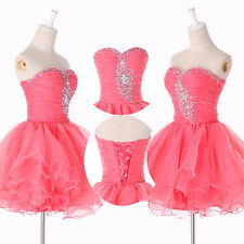 4Color Back To School Short Prom Evening Party Ball Gown Homecoming Dresses 2-16
