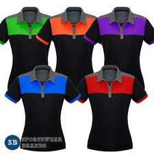 Ladies Charger Polo Shirt Contrast Panels Size 8-24 Sports Club Casual  P500LS