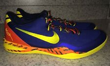 NEW Mens 18 NIKE KOBE 8 System Low Blue Yellow Orange Basketball Shoes Sneakers