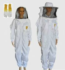 BEEKEEPING SUIT BEE SUIT HEAVY DUTY & LEATHER VETILATED BEE KEEPING GLOVES