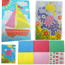 Mosaic Art Kit Kids Foam Blocks Learning Activity By Numbers Sequin Picture Fun