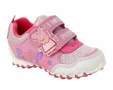 GIRLS OFFICIAL PEPPA PIG PINK CASUAL WALKING TRAINERS SHOES INFANTS UK SIZE 4-10