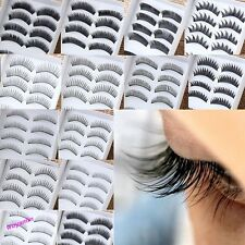 10 Pairs Black Model Of Choice In Natural Or Thick Fake False Eye Lash Make Up