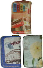 New Ladies Faux Leather Peacock Zip Coin Purse Womens Wallet Card Holder lot