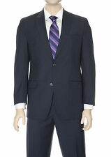 Sean John Classic Fit Navy Striped Two Button Suit With Peak Lapels