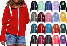 Womens Ladies Fleeced Zip Hoodie Jacket  Unisex Casual Hooded Sweat Top Jumper