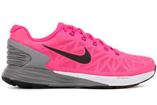 Nike Lunarglide 6 654434 600 New Womens Pink Grey Black Athletic Running Shoes