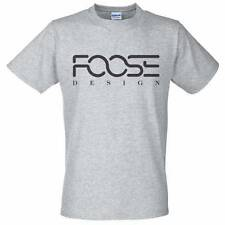 Grey T-Shirt with Black FOOSE DESIGN Logo - chip tune wheels
