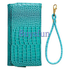 Fashion Crocodile Purse Leather Wallet Case Cover For iPhone 5 5G 5S 6 6G 6 Plus