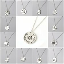 Personalize English Proverbs Love Letter Necklace Simple Pendant Family Gift New