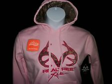 Womens/Ladies Realtree Xtra Camo Pink Pullover Hoodie Jacket Hot Pink Accent