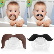 New Baby Infant Pacifier The Cowboy The Gentleman Binkie Mustache Beard