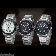 CURREN Men's Stainless Steel Dial Quartz Date Hours Analog Sport Wrist Watch