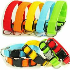 Adjustable Dog Puppy Pet Collar Nylon Glow Flashing LED Light Up Leash Tag 1