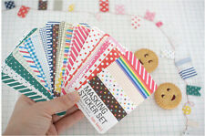 27 Pcs Masking Deco Sticker Set Assorted Paper Diary Scrapbooking Crafts