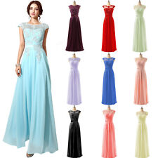 Maxi Long Womens Formal Prom Evening Bridesmaid Dresses Gowns Plus Size 2 4 6 8