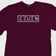 CUTE..Periodic Table Funny Geek T-shirt Chemistry Nerd Science Tee Shirt