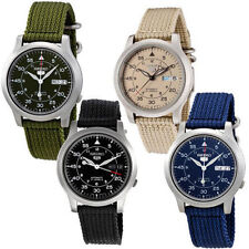 Seiko 5 Sports MILITARY Automatic Day Date Watch SNK803 SNK805 SNK807 SNK809 NIB