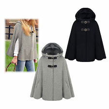 Women's Batwing Cape Wool Poncho Jacket Warm Cloak Cashmere Coat Overcoat New