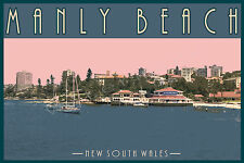 Iconic Manly Beach Scenic Travel Print. Limited Edition of 250 Signed Artwork