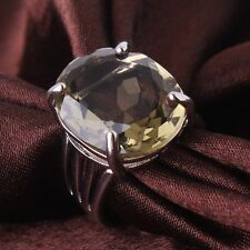 18K white gold filled charm design peridot Dazzling engagement lady ring Sz6to10