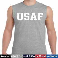 USAF Air Force Physical Training US Military Crossfit Gym PT Sleeveless T Shirt