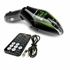 Wireless Car FM Radio Transmitter MP3 Player USB SD Card Slot + Remote - GREEN